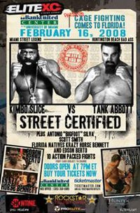 A poster or logo for EliteXC: Street Certified.