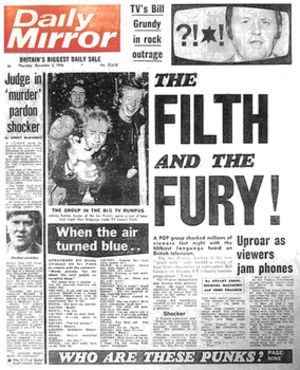 Daily Mirror front page, 2 December 1976