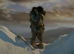 The Climb (Game of Thrones) - Jon Snow and Ygritte kissing on top of the Wall