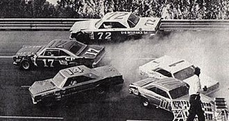 1967 National 500 - Despite the wreck, Charlie Glotzbach finished in fourth place.