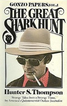 the great shark hunt  great shark hunt jpg first edition author hunter s thompson