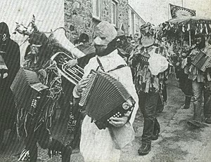 Guise dancing - Guise dancers pictured in the 1970s in St Ives