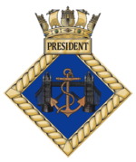 HMS President badge.png