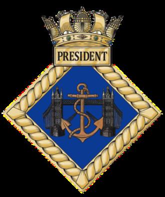 HMS President (shore establishment) - Image: HMS President badge