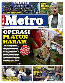 Harian Metro front page.jpg