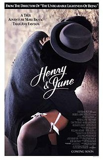 <i>Henry & June</i> 1990 film by Philip Kaufman
