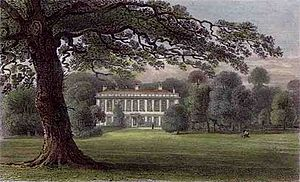 Thomas Townshend, 1st Viscount Sydney - Frognal House by George Shepherd appears in Thomas Ireland's History of Kent published c. 1830.
