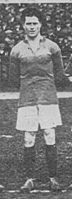 Jack Cock - Cock lining up while a guest at Brentford in 1919.
