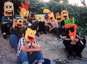 The Radioactive Chicken Heads - Joe and the Chicken Heads, as they appeared in 1998.