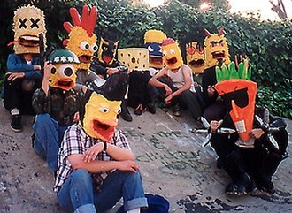 Radioactive Chicken Heads - Joe and the Chicken Heads, as they appeared in 1998.
