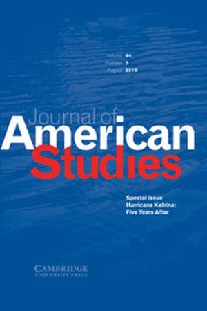 Journal of American Studies - Image: Journal of American Studies