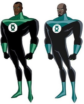 Green Lantern in other media - Model sheets for Green Lantern John Stewart in Justice League and Justice League Unlimited.