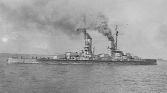 König-class battleship - One of the König-class battleships in 1915 or 1916