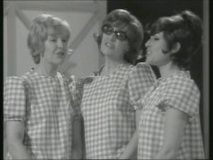 The Ladybirds - The Ladybirds performing on The Benny Hill Show in 1970. Left to right: Marian Davies, Maggie Stredder and Gloria George