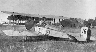Lanoe Hawker - The Bristol Scout C, RFC serial no. 1611, flown by Hawker on 25 July 1915 in his Victoria Cross-earning engagement.