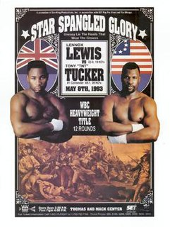 Lennox Lewis vs. Tony Tucker Boxing competition