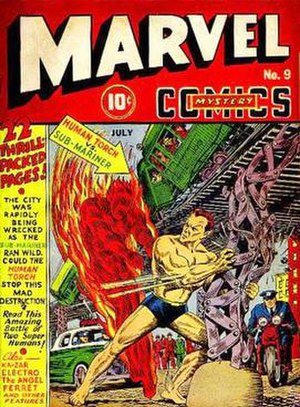 Marvel Mystery Comics #9 (July 1940): Fire vs....