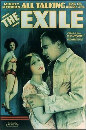 "The Exile (1931 film) - Poster for The Exile, ""Mighty epic of modern Negro life"""