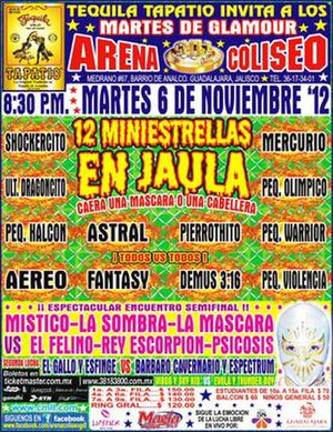 CMLL Mini-Estrellas tournaments - Poster for the 12 Mini-Estrellas cage match