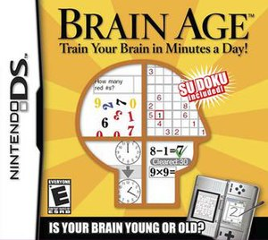 Brain Age: Train Your Brain in Minutes a Day! - North American box art