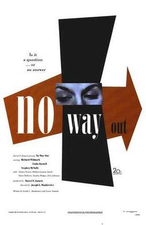 No Way Out (1950 film) - Theatrical release poster by Paul Rand