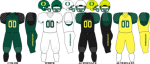 2007 Oregon Ducks football team - Image: Pac 10 Uniform UO 2007