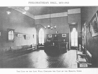 Philomathean Society - The Philomathean Society Meeting Room circa 1913.