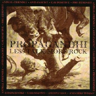 Less Talk, More Rock - Image: Propagandhi Less Talk, More Rock cover