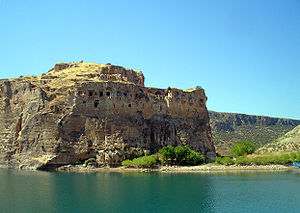 Rock castle - Rumkale in Şanlıurfa, Turkey.