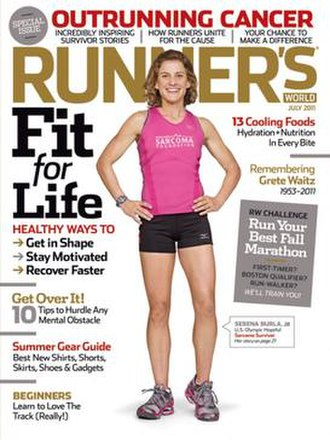 Runner's World - Serena Burla on cover of the July 2011 issue