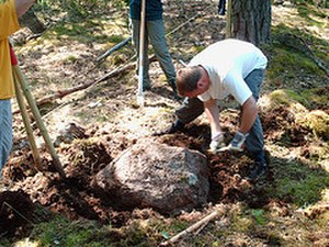 Scout and Guide Graduate Association - SAGGA Members working on a Scout Campsite in Sweden in 2006