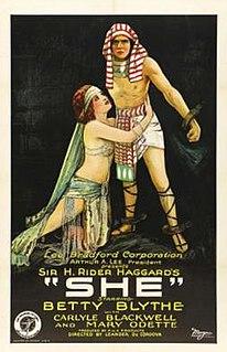 <i>She</i> (1925 film) 1925 film by G. B. Samuelson, Leander de Cordova