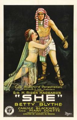 She (1925 film) - Movie Poster