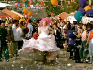 Simple Kind of Life - Gwen Stefani in a wedding dress from the music video.