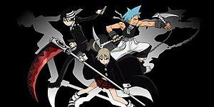 The three main meisters of Soul Eater (from le...