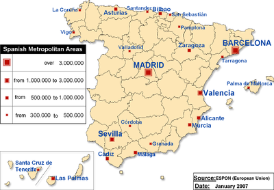 Map Of Spain With Distances.Geography Of Spain Wikipedia