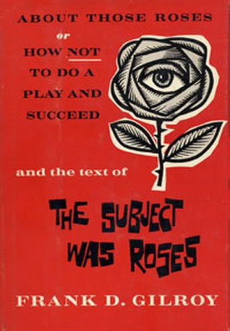 The Subject Was Roses - Image: Subject Was Roses Book Cover