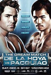 Oscar De La Hoya vs. Manny Pacquiao Boxing competition
