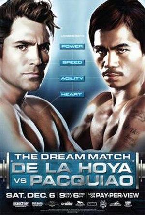Oscar De La Hoya vs. Manny Pacquiao - Image: The Dream Match