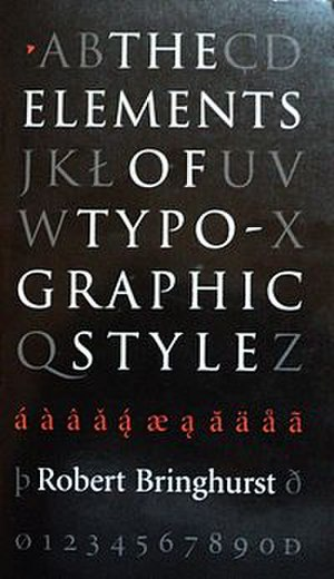 The Elements of Typographic Style - Cover of the Canadian first edition