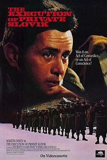 <i>The Execution of Private Slovik</i> 1974 television film directed by Lamont Johnson