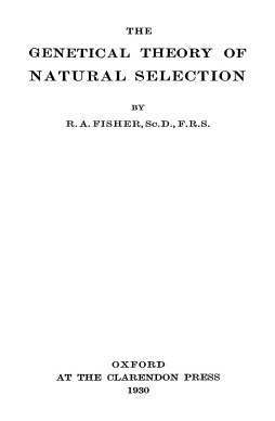 The Genetical Theory of Natural Selection 1930 title page
