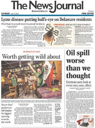 The News Journal - Image: The News Journal front page