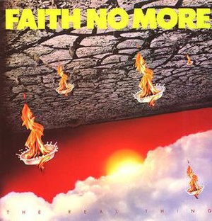 The Real Thing (Faith No More album) - Image: The Real Thing vinyl cover