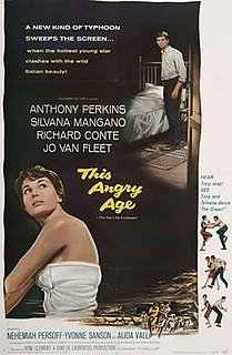 <i>This Angry Age</i> 1957 film by René Clément
