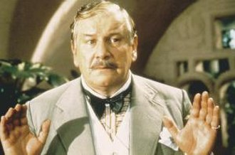 Hercule Poirot - Peter Ustinov as Poirot in a 1982 adaptation of the novel Evil Under the Sun