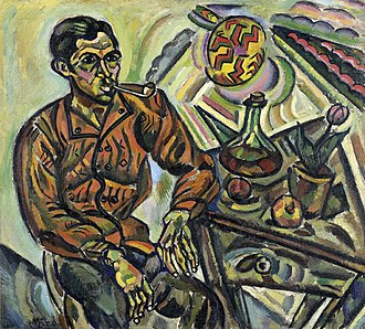 Joan Miró - Joan Miró, April 1917, Portrait of Vincent Nubiola (Portrait de Vincenç Nubiola), oil on canvas, 104 x 113 cm, Folkwang Museum