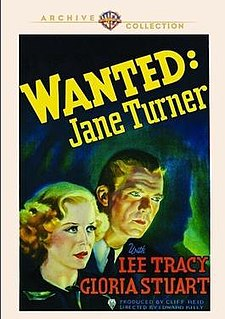 <i>Wanted! Jane Turner</i> 1936 American film directed by Edward Killy