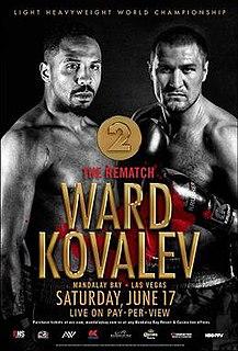 Andre Ward vs. Sergey Kovalev II Boxing competition