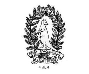4th Light Horse Regiment (Australia) - 4th Light Horse Regiment hat badge